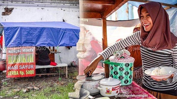 Viral Gadis Cantik Penjual Nasi Sayur di Solo, Afik: Dikira Mau Promosiin Dagangan, Tapi Malah Saya